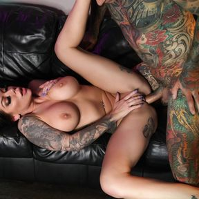 Tattooed Hottest Karma RX Gets Fucked by a Big Hard Cock