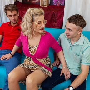 Two toyboys dating a very horny mature Brenda at the same time
