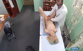 Skinny blonde Jenny S takes doctor's advice
