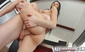 Keira Albina spreads her legs for cock