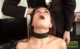 Gorgeous subslut Valentina Bianco facefucked and dommed by master Pascal