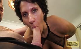 Cock craving English wench Rose Red blasted with cock and cum