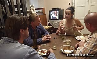 Perverse Family - Shared Wife Brittany Bardot with Daddys Friends