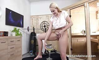 Angel Wicky Gets Nasty With Piss