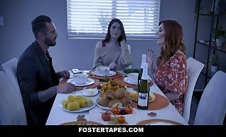 Aria Carson and Lauren Phillips - Stuffing the Turkey